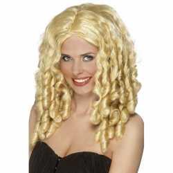 Filmster blonde damespruik