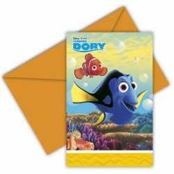Finding Dory uitnodigingen 6 stuks