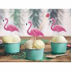 Flamingo cocktailprikkers 6 stuks