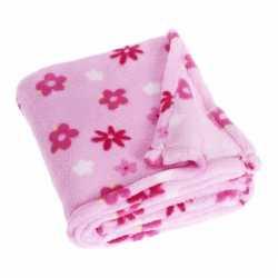 Fleece deken bloemen design 100 bij 150