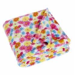 Fleece deken bloemen design 75 bij 100