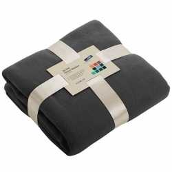 Fleece deken donkergrijs
