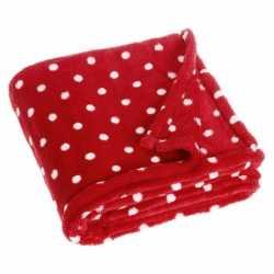 Fleece deken stipjes design 75 bij 100