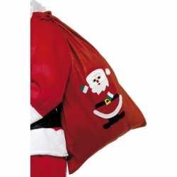 Fleece kerst cadeau zak