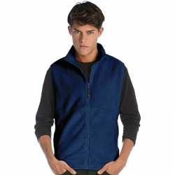 Fleece outdoor bodywarmer navy blauw heren