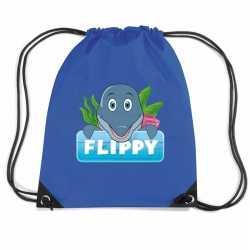 Flippy de dolfijn rugtas / gymtas blauw kinderen