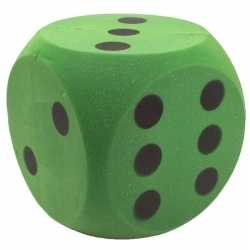 Foam dobbelsteen groen 4 bij 4