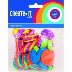 Foam rubberen cijfers in diverse kleuren 100 st