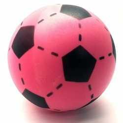 Foam soft voetbal roze 20