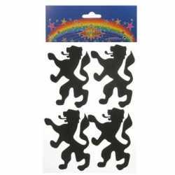 Foam stickers leeuw vijf stuks