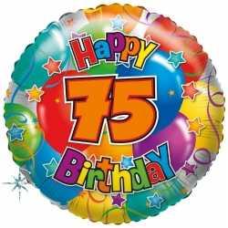 Folie ballon 75 jaar 35