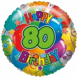 Folie ballon 80 jaar 35