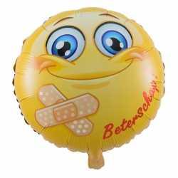 Folie ballon beterschap emoticon 45