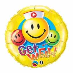 Folie ballon beterschap smiley 45
