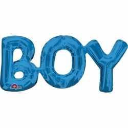 Folie ballon boy blauw 55