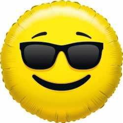Folie ballon coole smiley 35