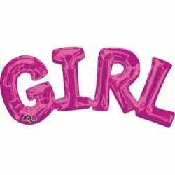 Folie ballon girl roze 55