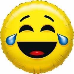 Folie ballon huilen van het lachen smiley 35