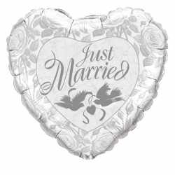 Folie ballon Just Married 45