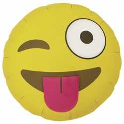 Folie ballon knipoog emoticon 46