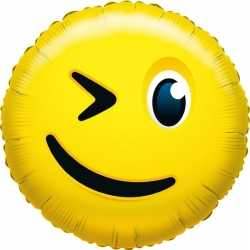Folie ballon knipoog smiley 35
