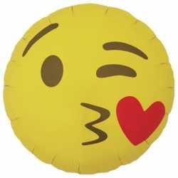 Folie ballon kusje emoticon 46