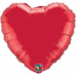 Folie ballon rood hart 45
