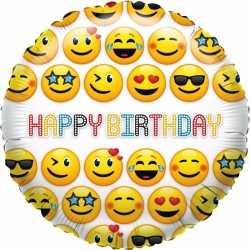 Folie ballon smiley verjaardag 35