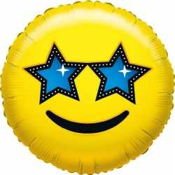 Folie ballon ster smiley 35