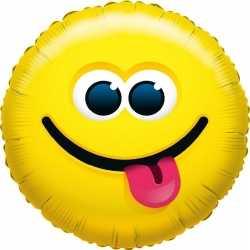 Folie ballon tong uitsteken smiley 35