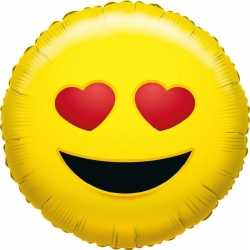 Folie ballon verliefde smiley 35