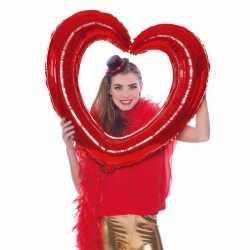 Folie foto frame hart rood 80 bij 75