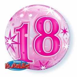 Folie helium ballon 18 jaar roze 55