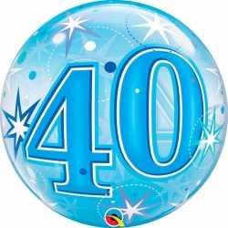 Folie helium ballon 40 jaar blauw 55
