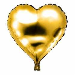Folie helium ballon gouden hart 49
