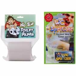 Fop pakket op het toilet