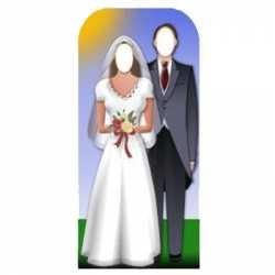 Foto stand-in bord bruidspaar