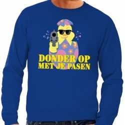 Fout paas sweater blauw donder op je pasen heren