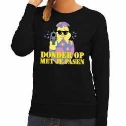 Fout paas sweater zwart donder op je pasen dames