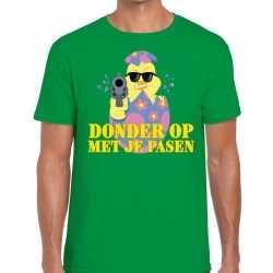 Fout paas t shirt groen donder op je pasen heren