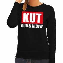 Foute jaarwisseling trui / sweater kut oud nieuw zwart dames
