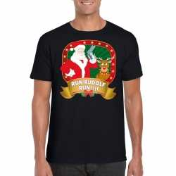 Foute kerst t shirt run rudolf heren