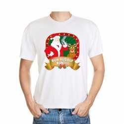Foute kerst t shirt run rudolf heren