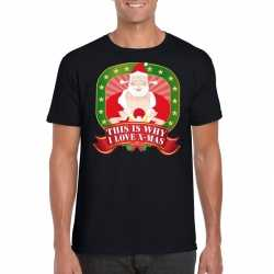 Foute kerst t shirt this is why i love christmas heren