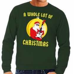 Foute kersttrui groen a whole lot of christmas heren