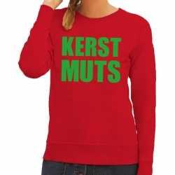 Foute kersttrui kerst muts rood dames