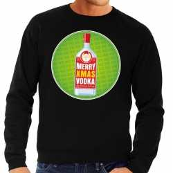 Foute kersttrui merry christmas vodka zwart heren
