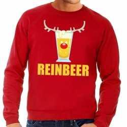Foute kersttrui reinbeer rood heren