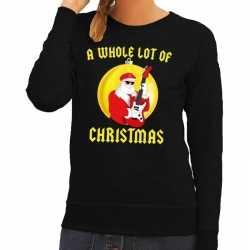 Foute kersttrui zwart a whole lot of christmas dames