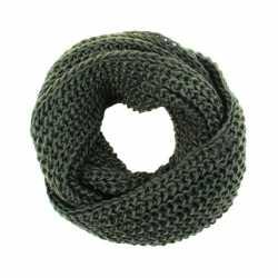 Gebreide col sjaal leger groen volwassenen